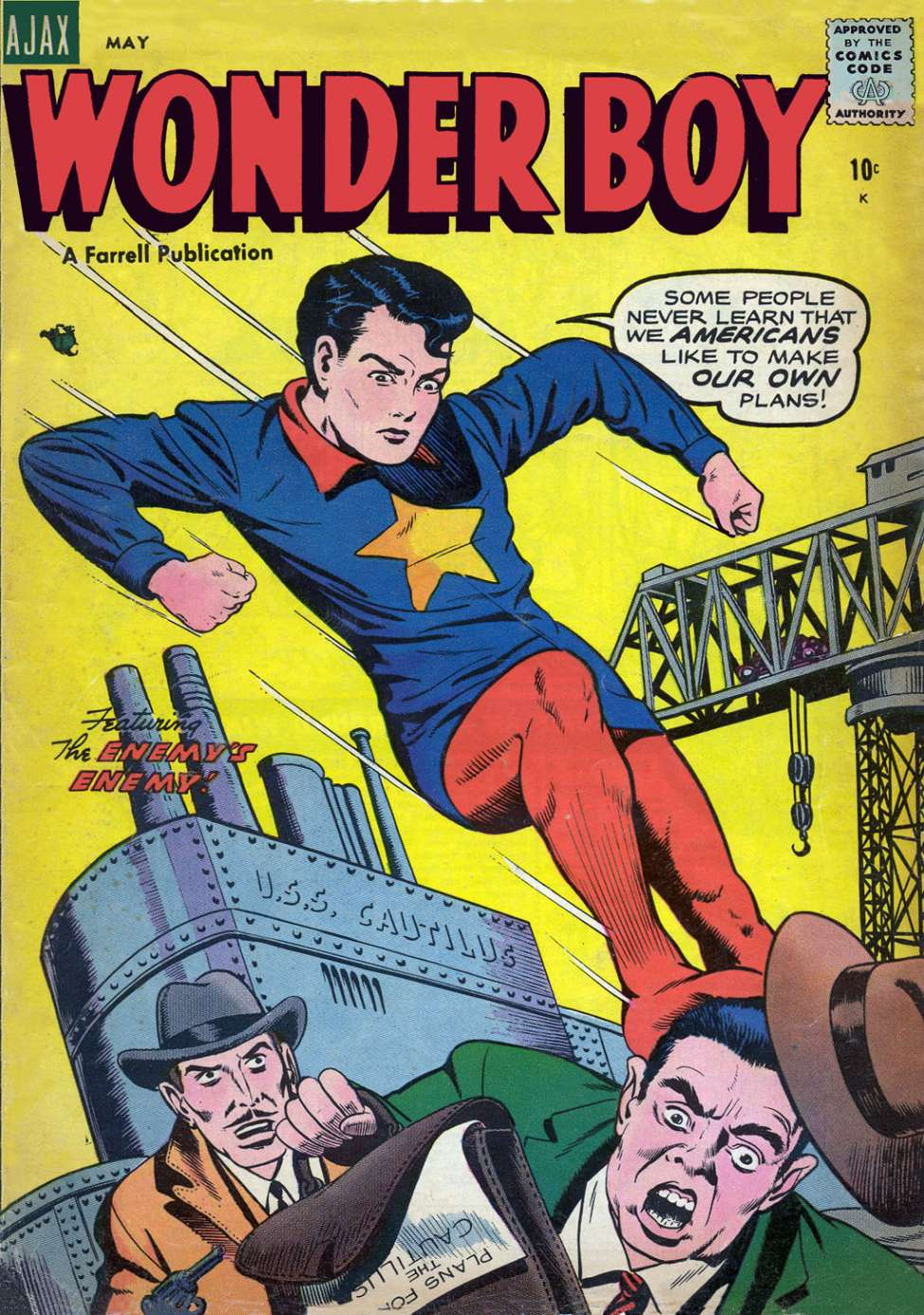 Comic Book Cover For Wonder Boy #17 - Version 2