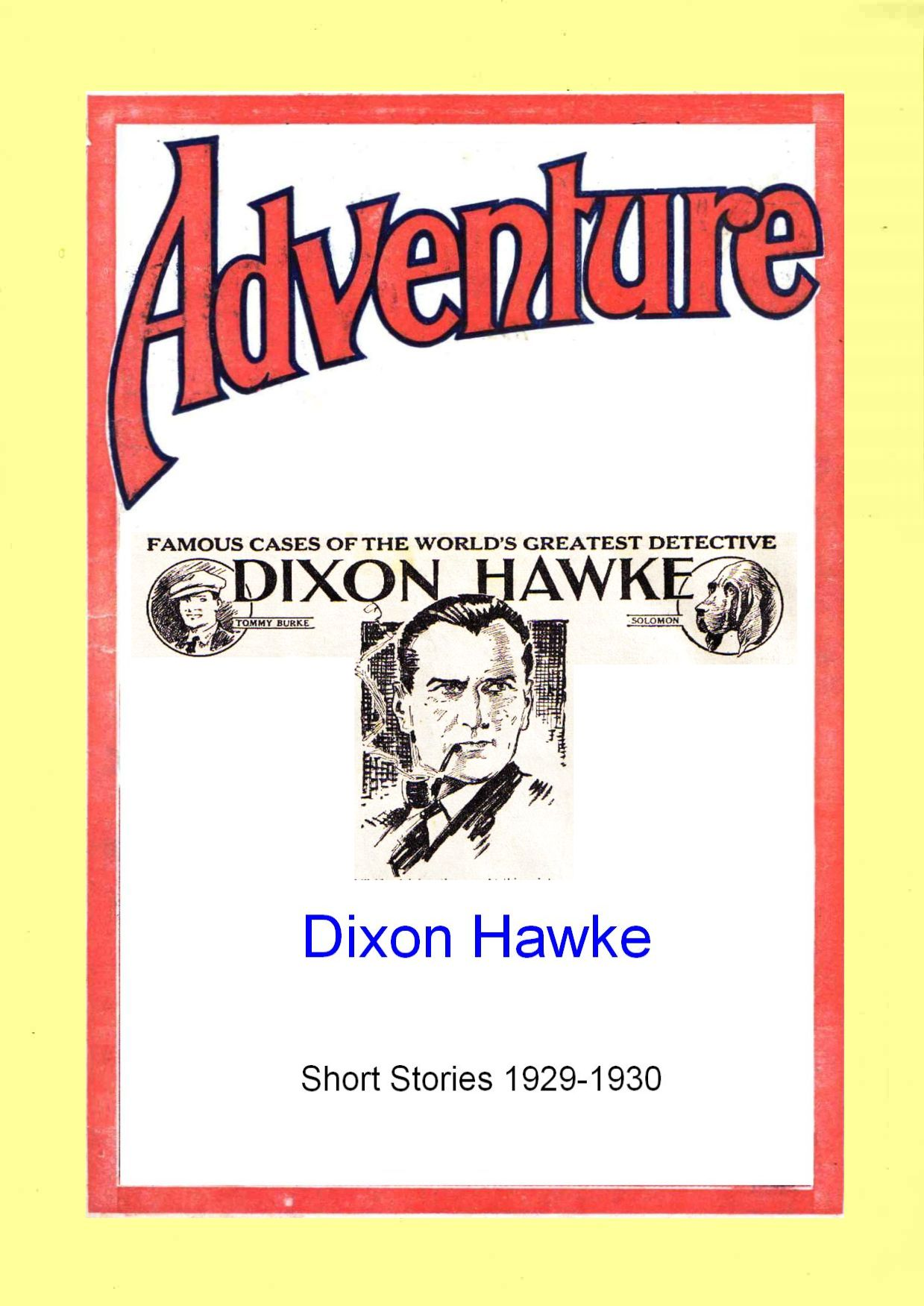 Comic Book Cover For Dixon Hawke Short Stories 1929-30