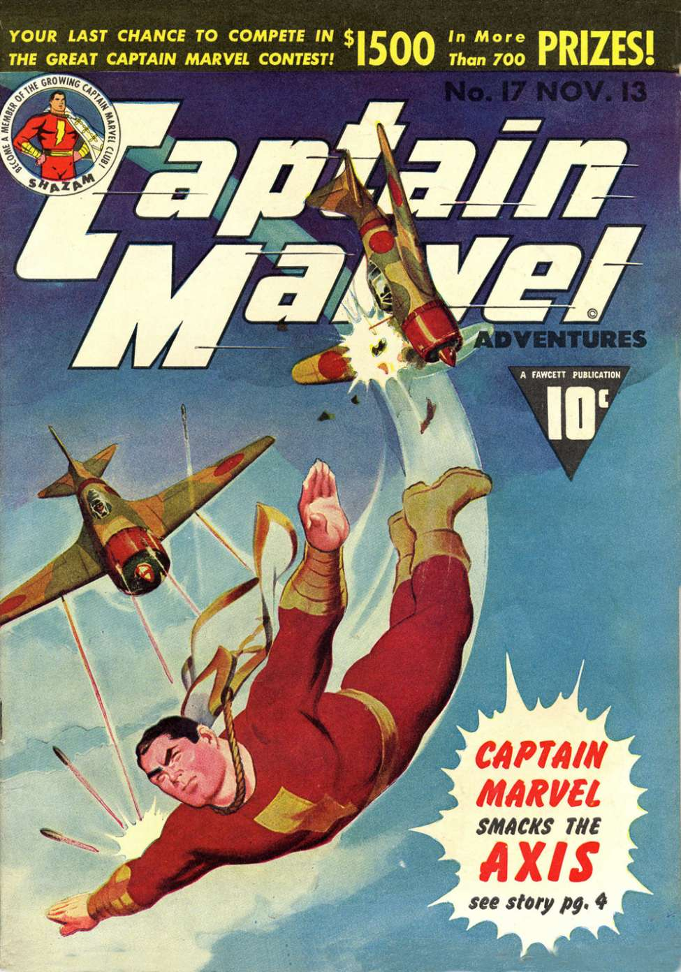 Comic Book Cover For Captain Marvel Adventures #17