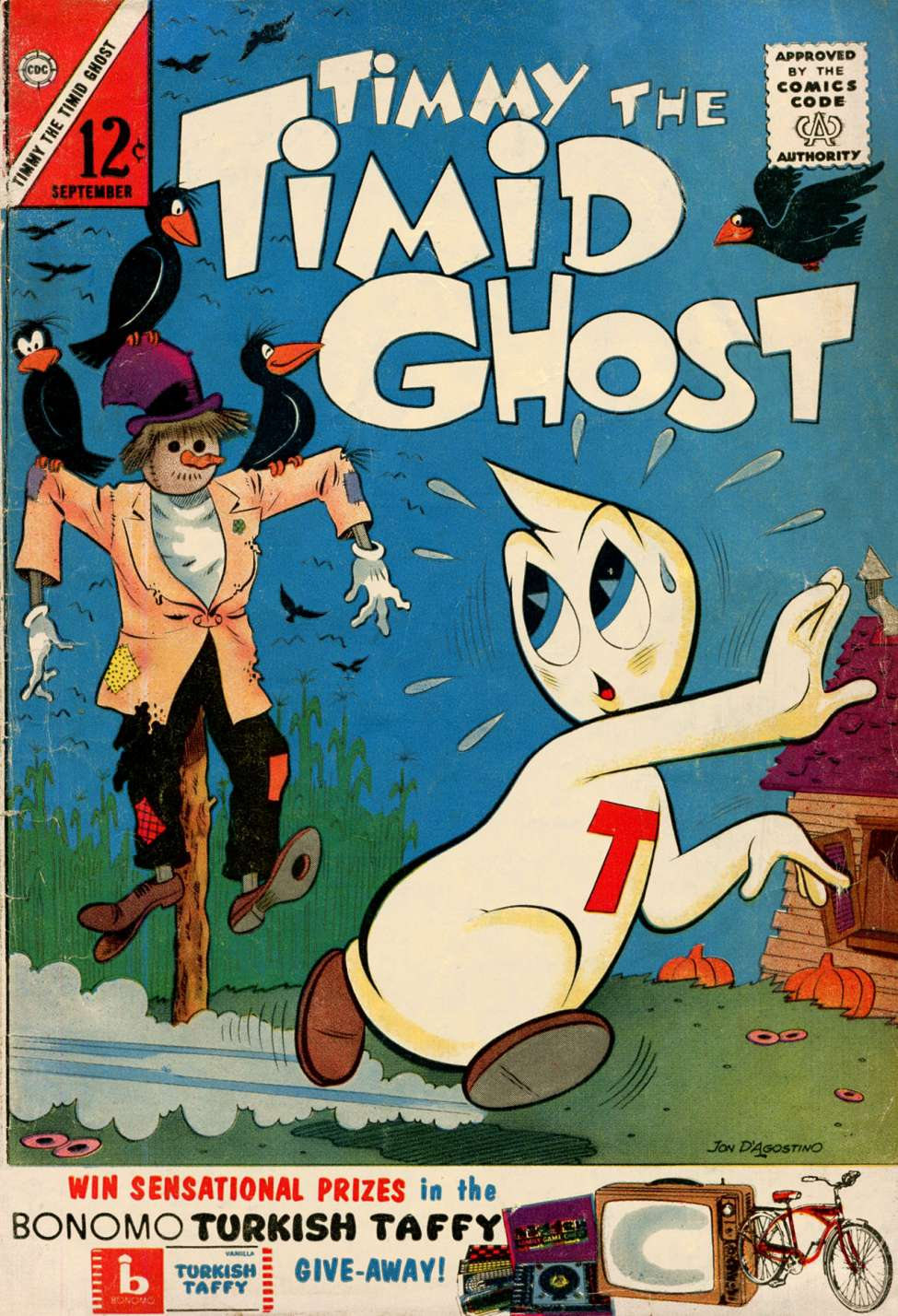 Comic Book Cover For Timmy the Timid Ghost #40