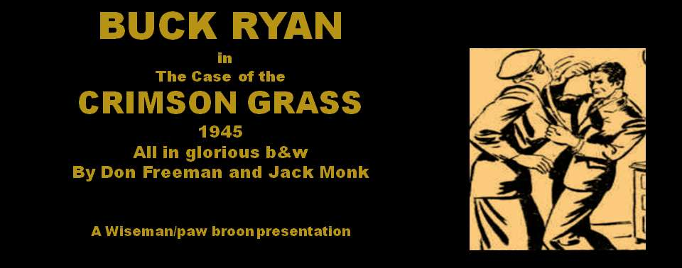 Comic Book Cover For Buck Ryan 25 - The Case of Crimson Grass