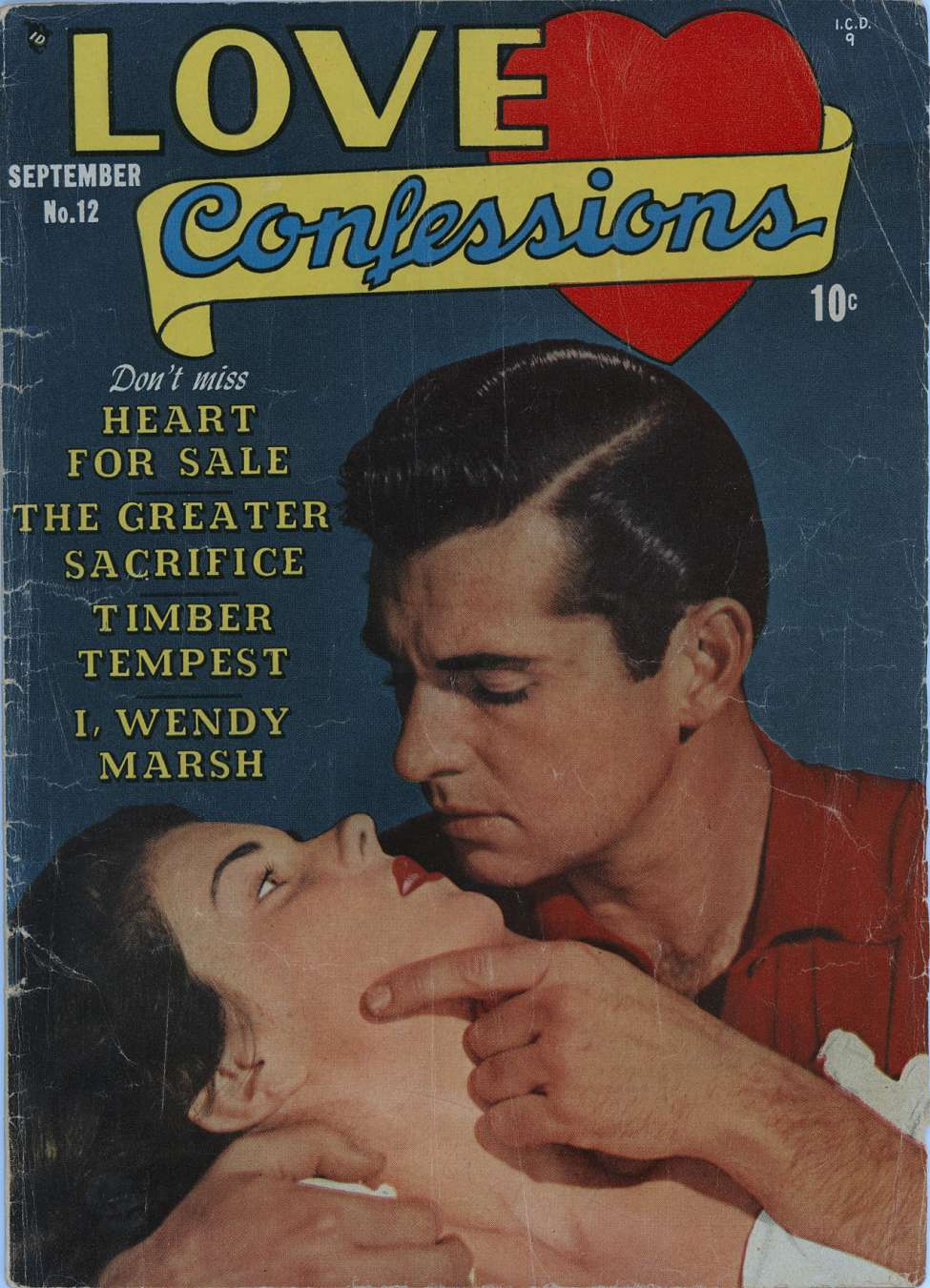 Comic Book Cover For Love Confessions #12