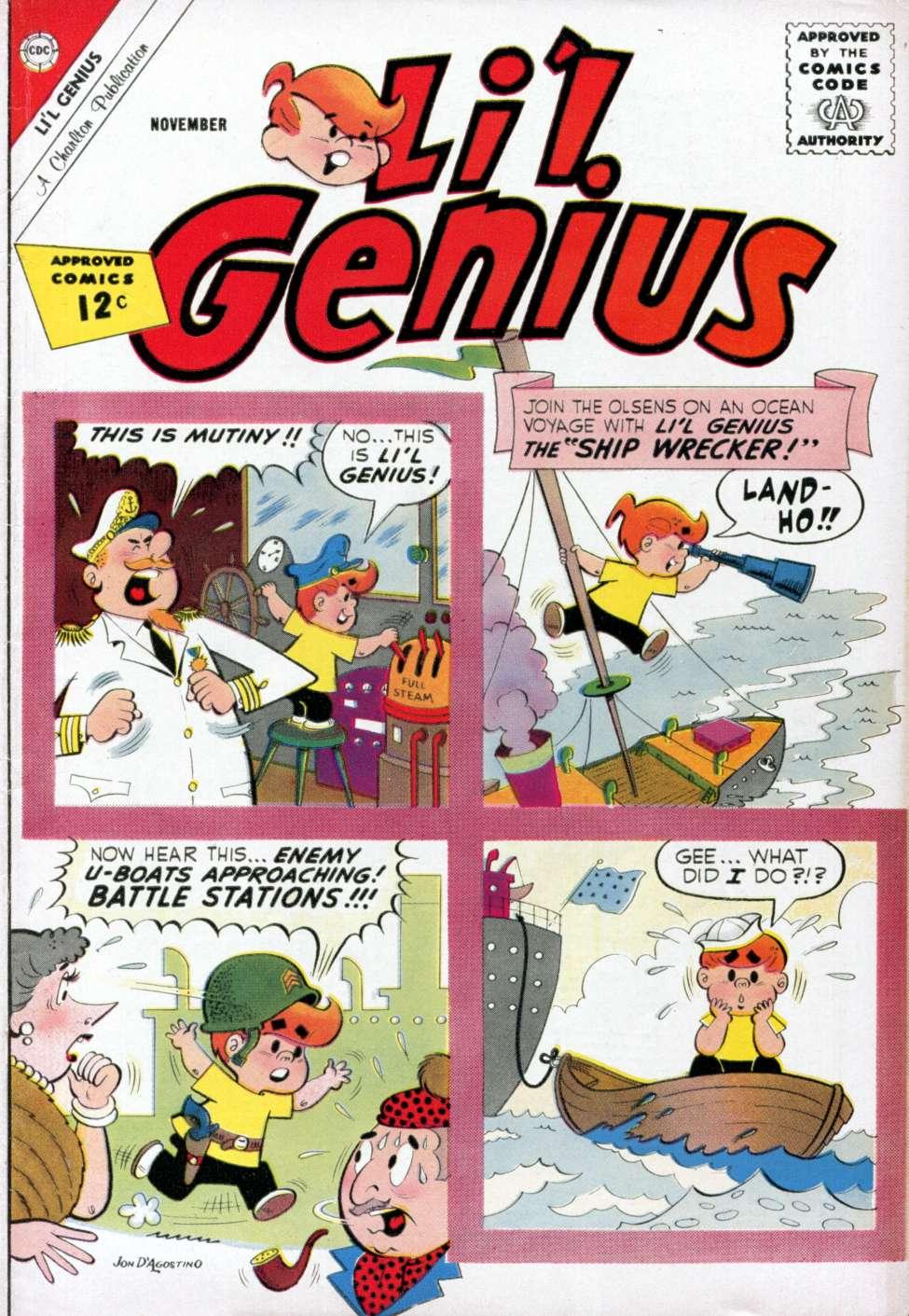 Comic Book Cover For Li'l Genius #41