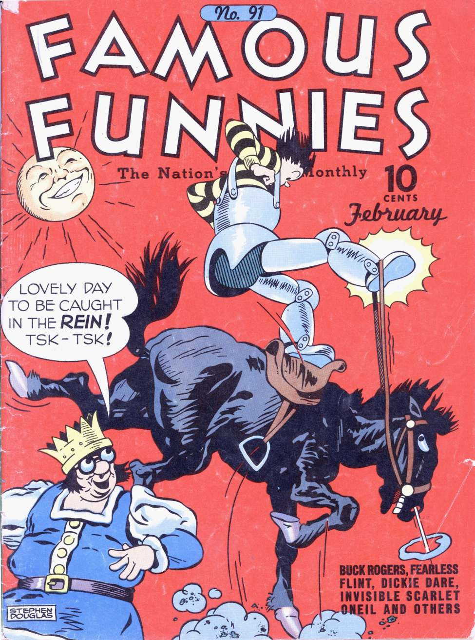 Comic Book Cover For Famous Funnies #91