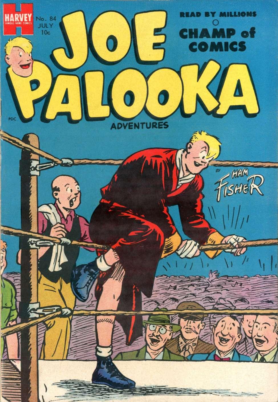 Comic Book Cover For Joe Palooka Comics #84