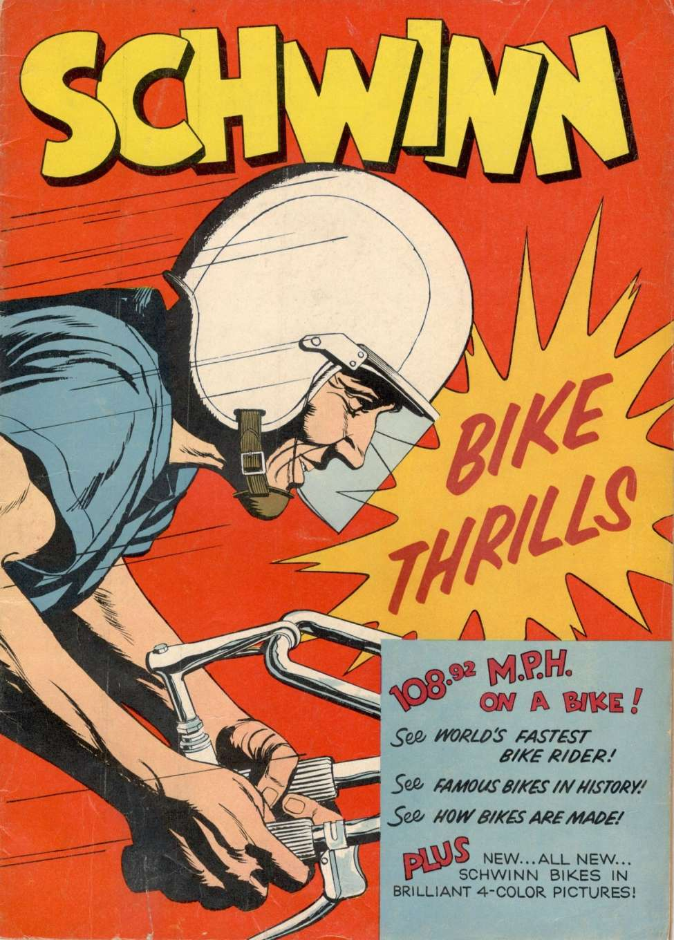 Comic Book Cover For Schwinn Bike Thrills [nn]