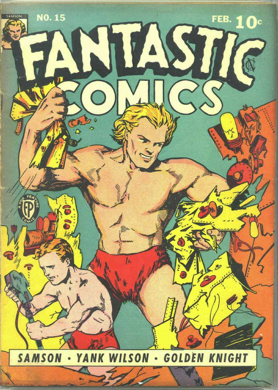 Comic Book Cover For Fantastic Comics #15