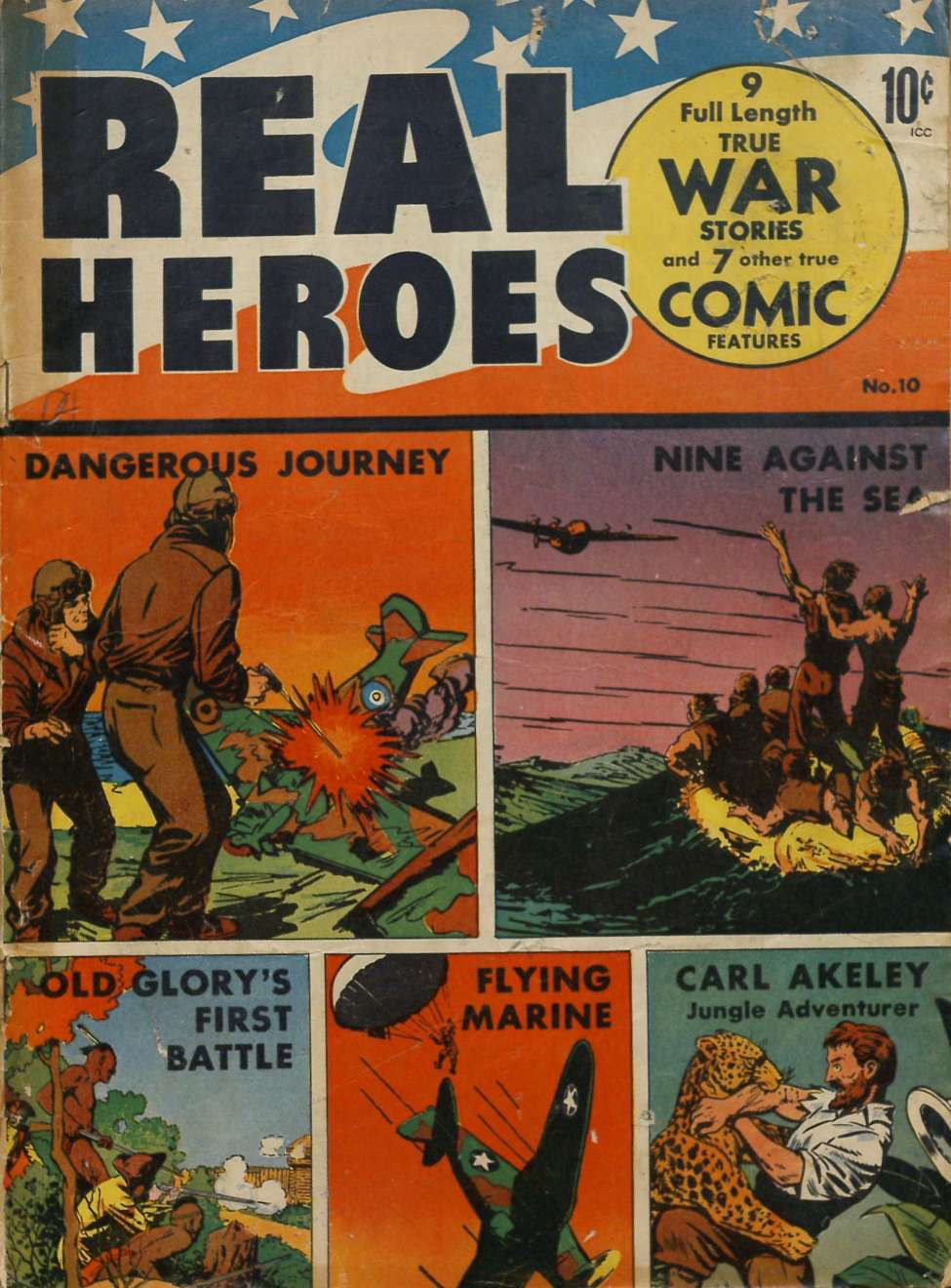 Comic Book Cover For Real Heroes #10