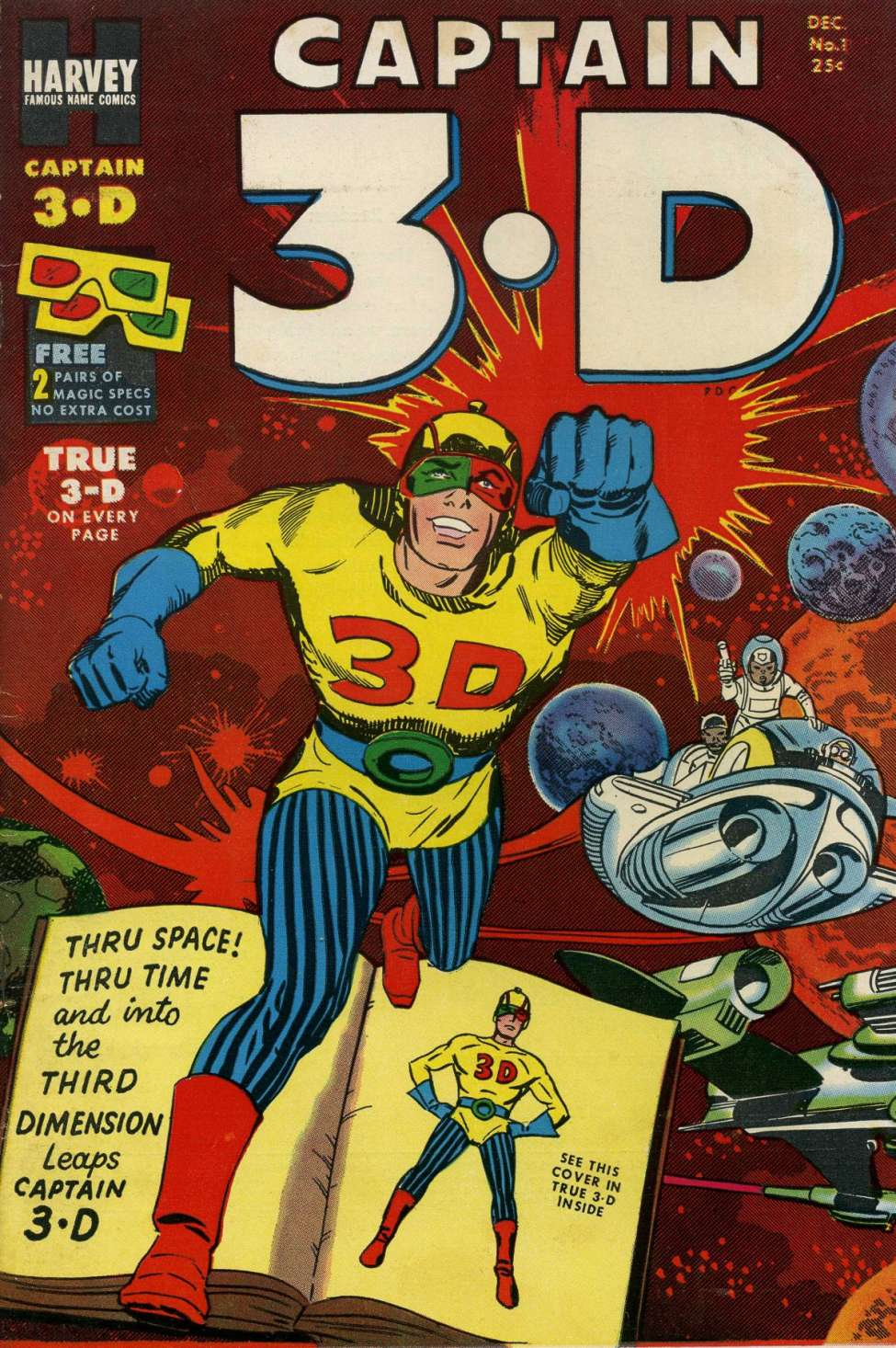 Comic Book Cover For Captain 3-D #1 - Version 2