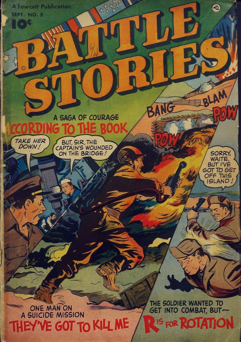 Comic Book Cover For Battle Stories #5