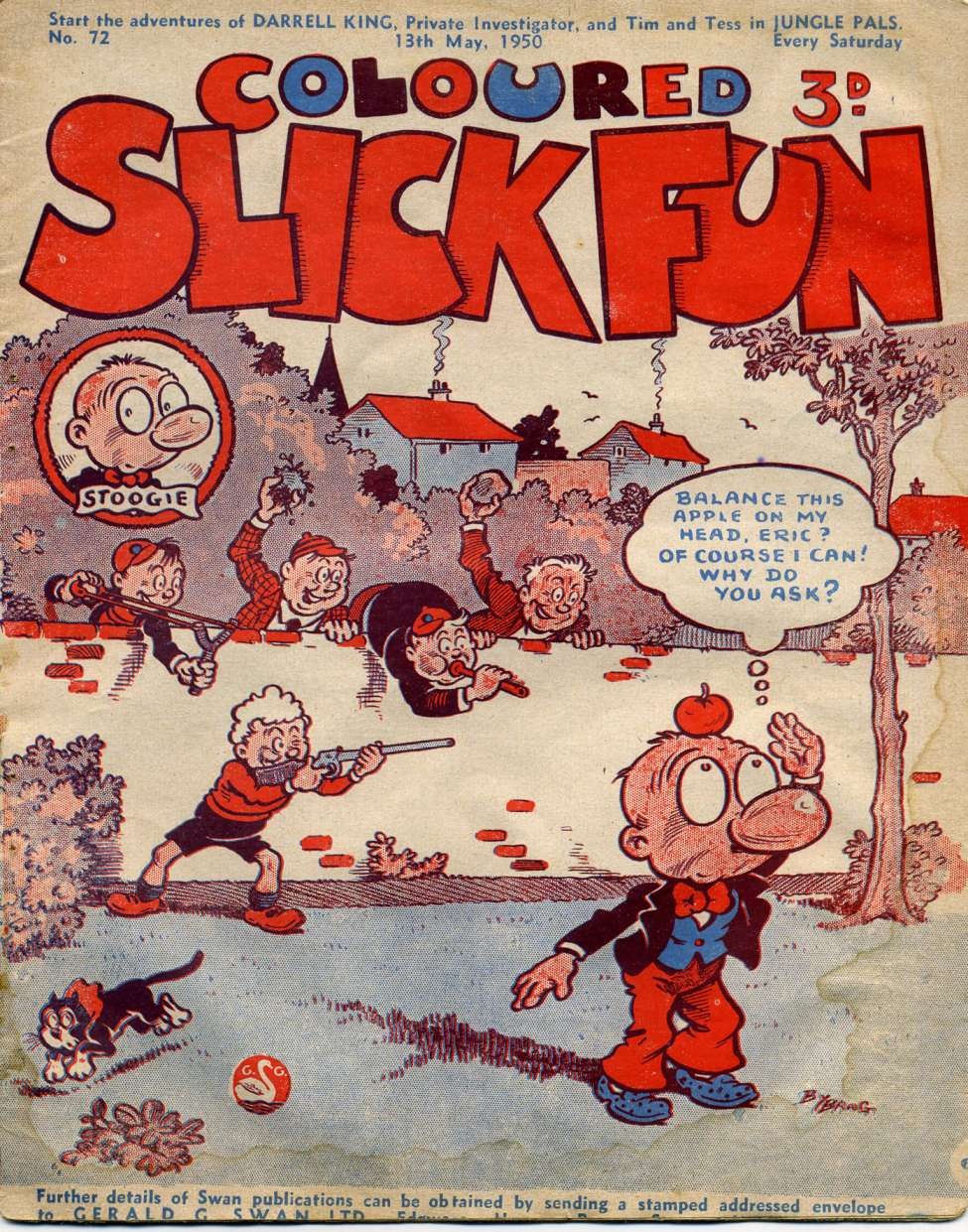 Comic Book Cover For Coloured Slick Fun 72