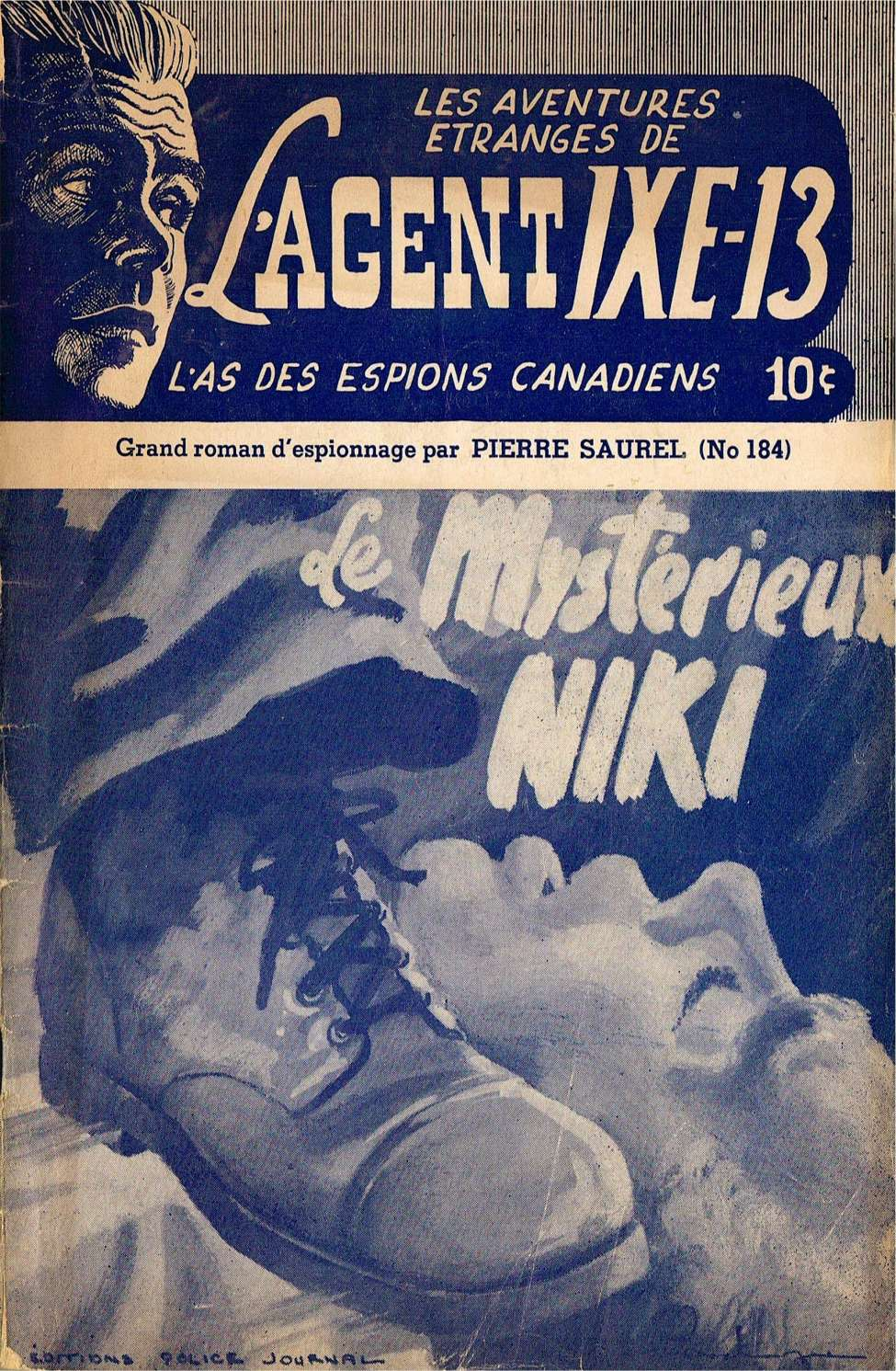 Comic Book Cover For L'Agent IXE-13 v2 184 - Le mystérieux Niki