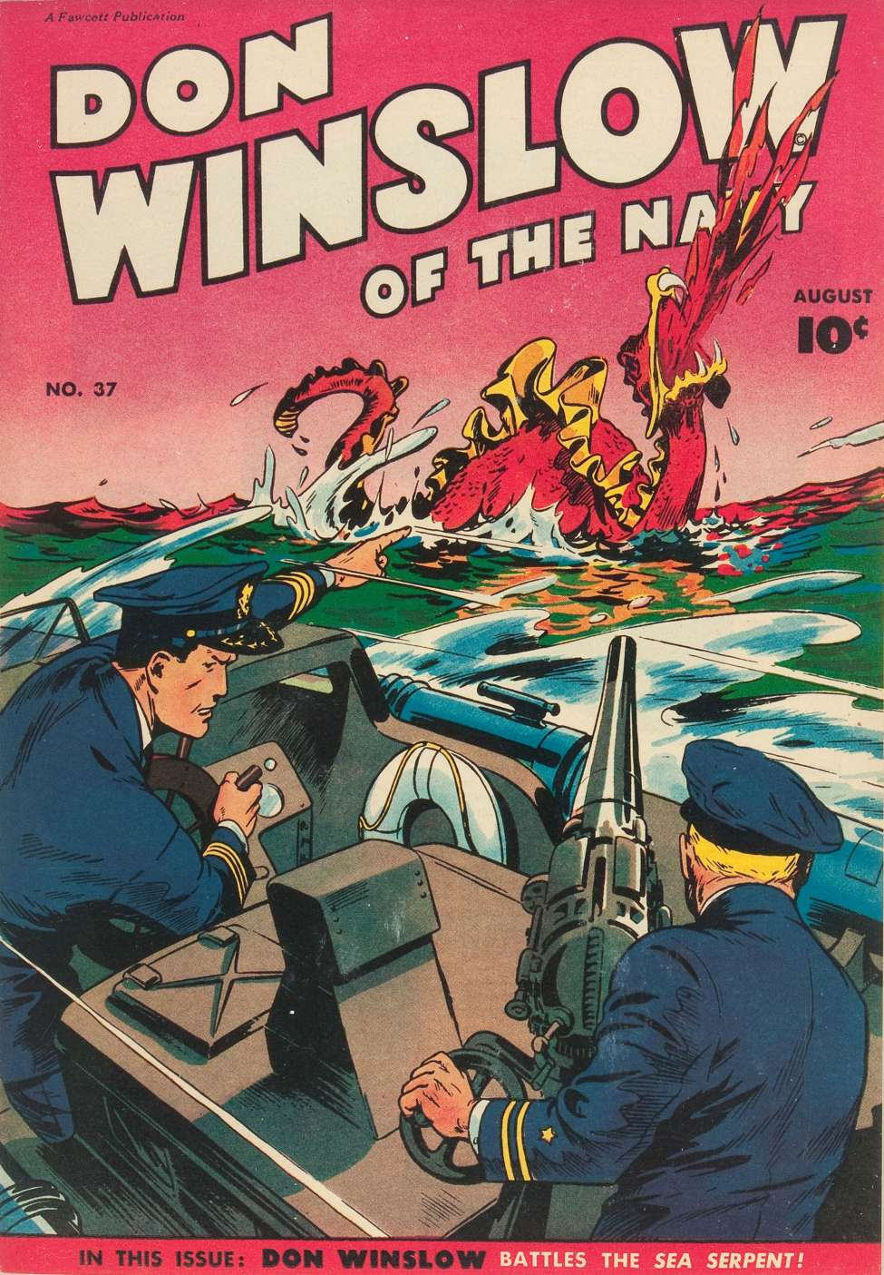 Comic Book Cover For Don Winslow of the Navy #37