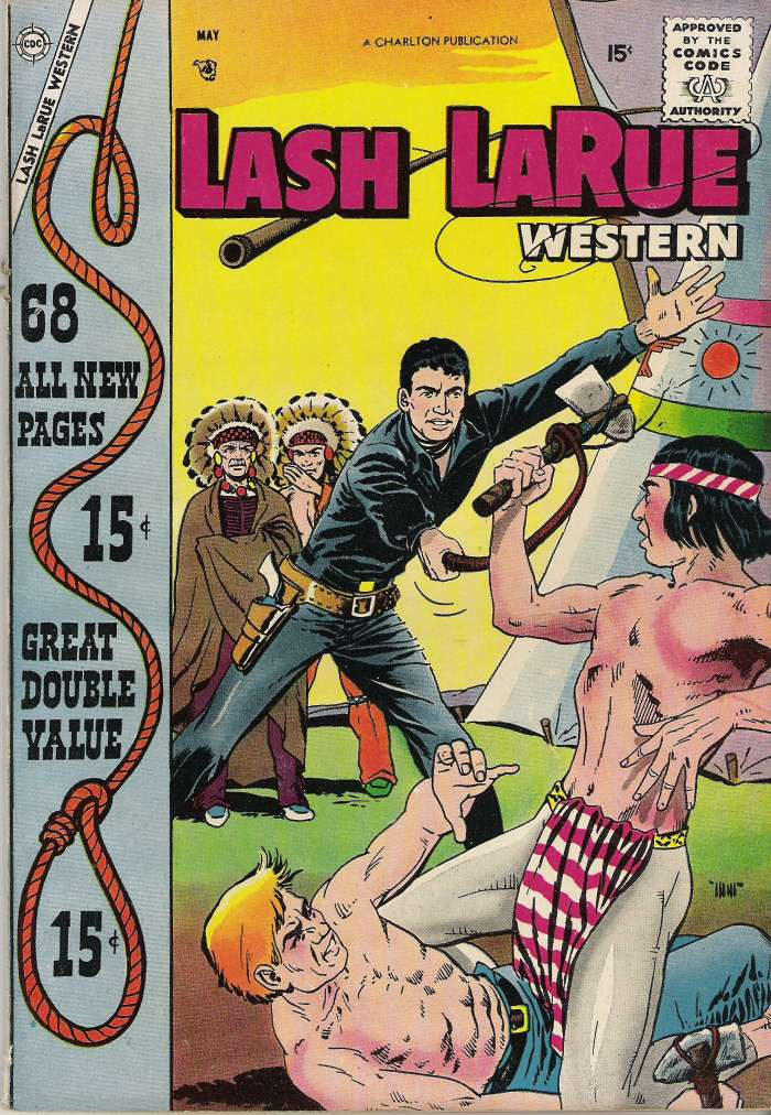 Comic Book Cover For Lash Larue Western #68