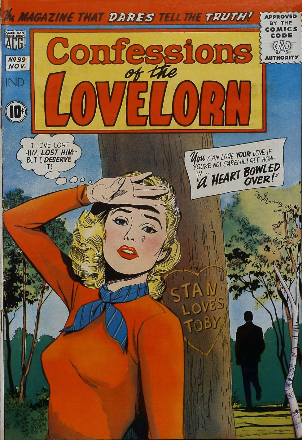 Comic Book Cover For Confessions of the Lovelorn #99