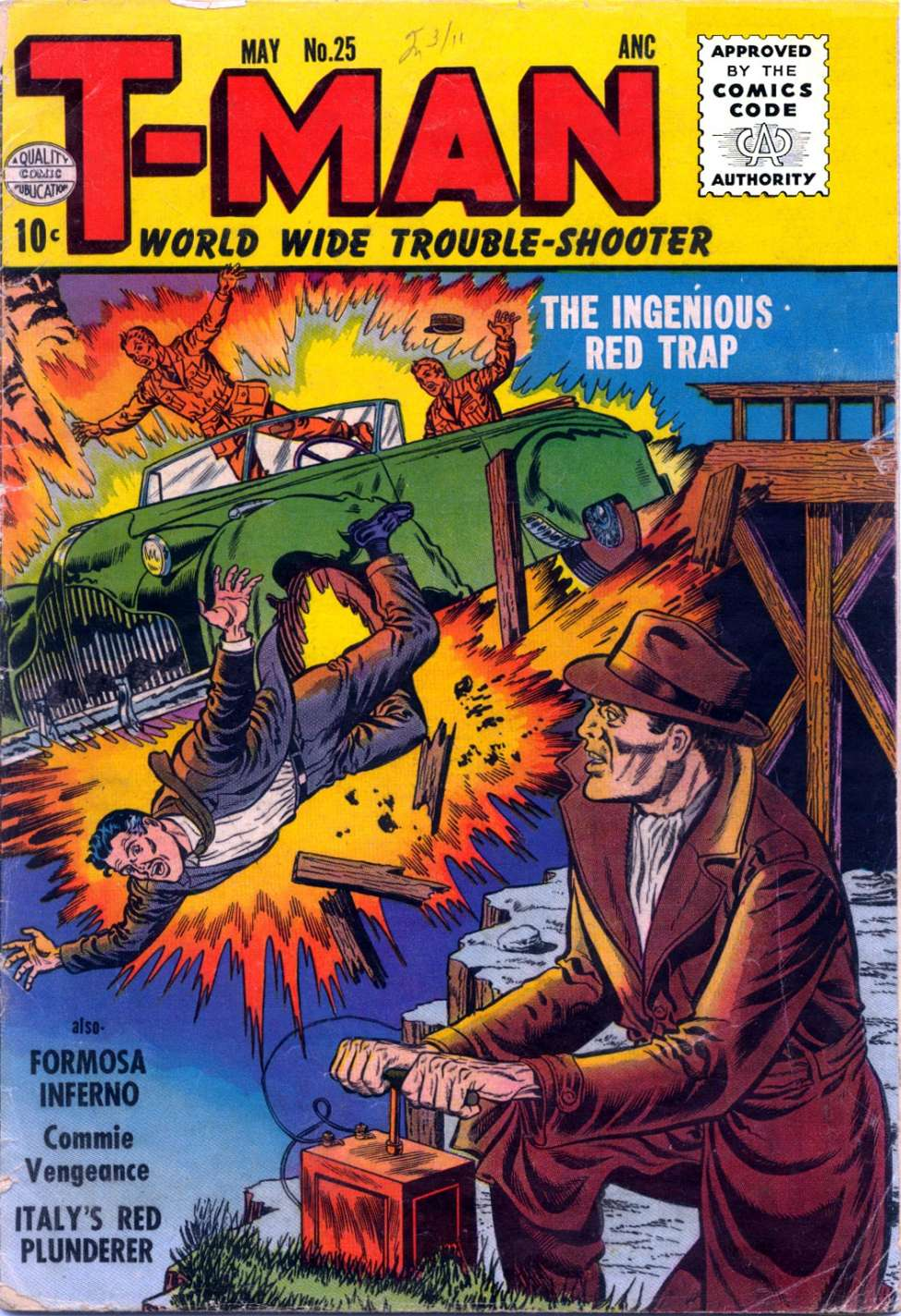 Comic Book Cover For T-Man #25