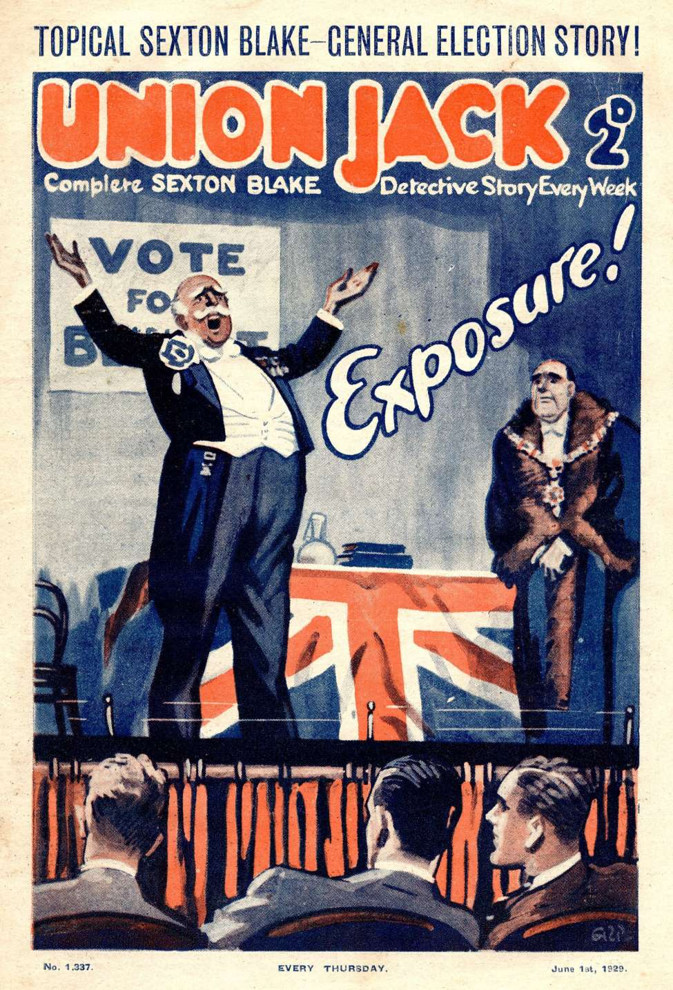 Comic Book Cover For Union Jack 1337 - Exposure!