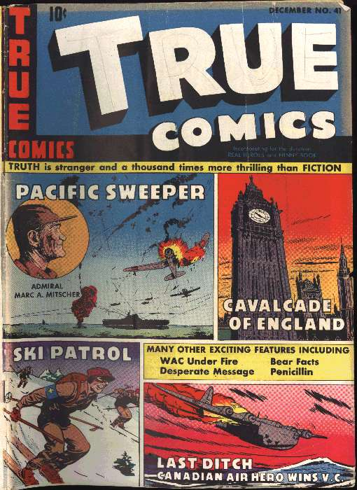 Comic Book Cover For True Comics #41