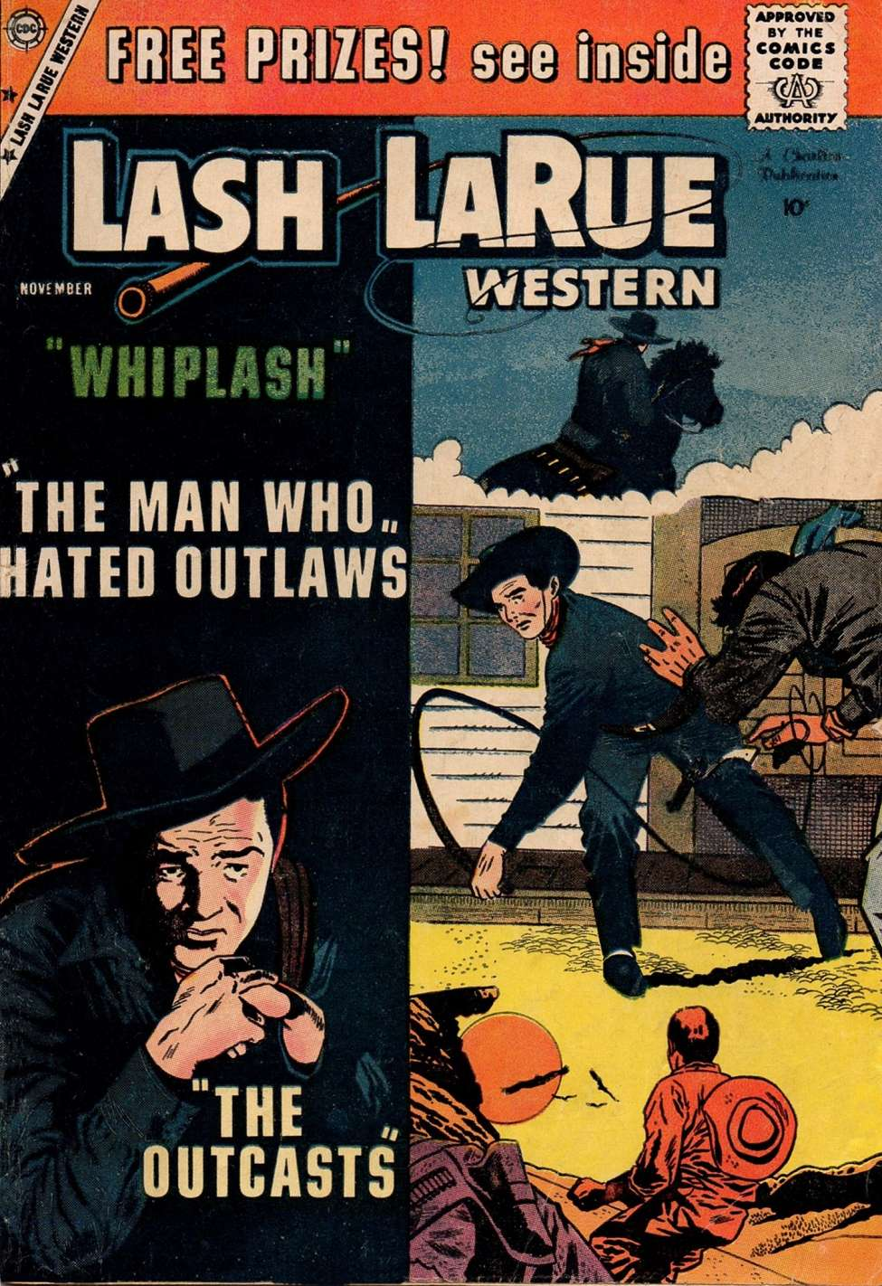 Comic Book Cover For Lash Larue Western #75