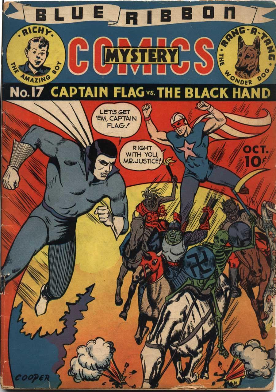 Comic Book Cover For Blue Ribbon Comics #17