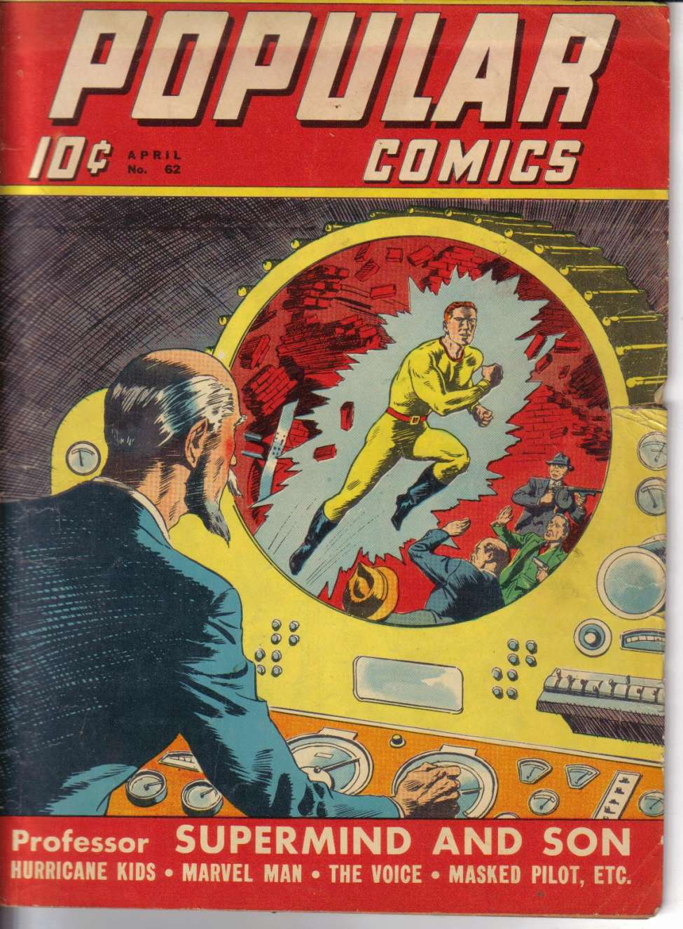 Comic Book Cover For Popular Comics #62