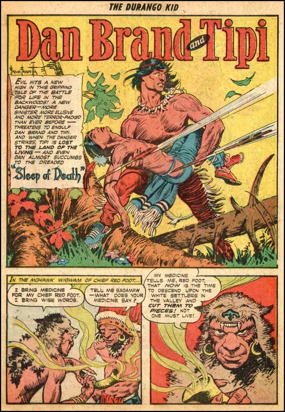 Comic Book Cover For Dan Brand And Tipi Pt. 2 (Frank Frazetta)