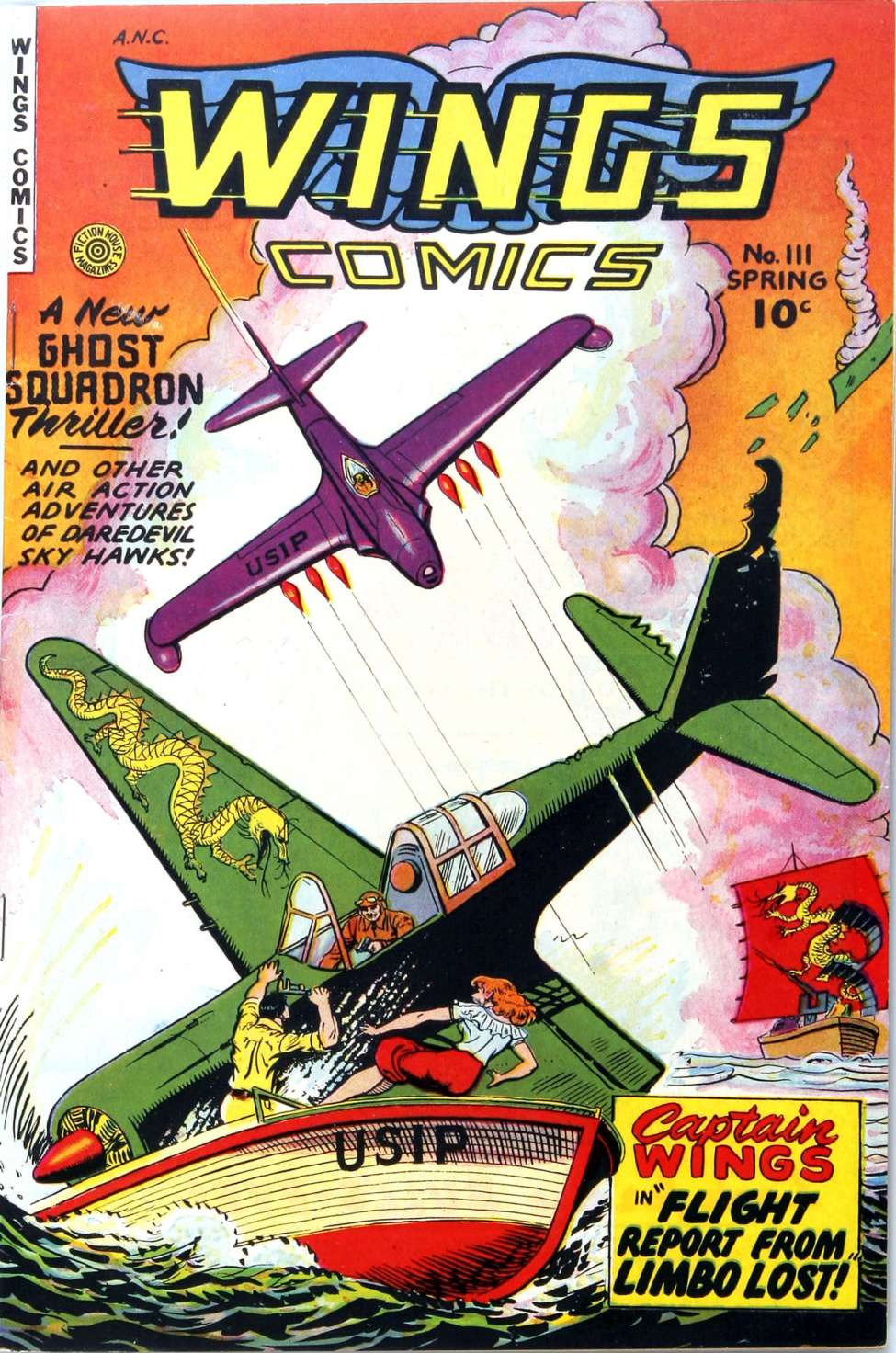 Comic Book Cover For Wings Comics #111
