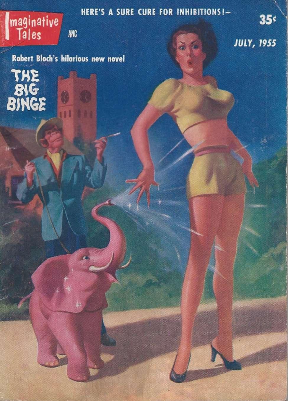 Comic Book Cover For Imaginative Tales v01 06 - The Big Binge - Robert Bloch