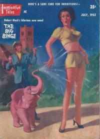 Large Thumbnail For Imaginative Tales v01 06 - The Big Binge - Robert Bloch