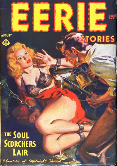 Comic Book Cover For Eerie Stories v01 01 - The Soul-Scorchers' Lair - Ronald Flagg