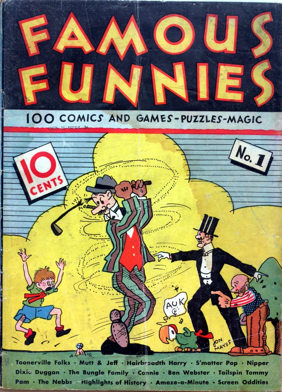 Comic Book Cover For Famous Funnies #1