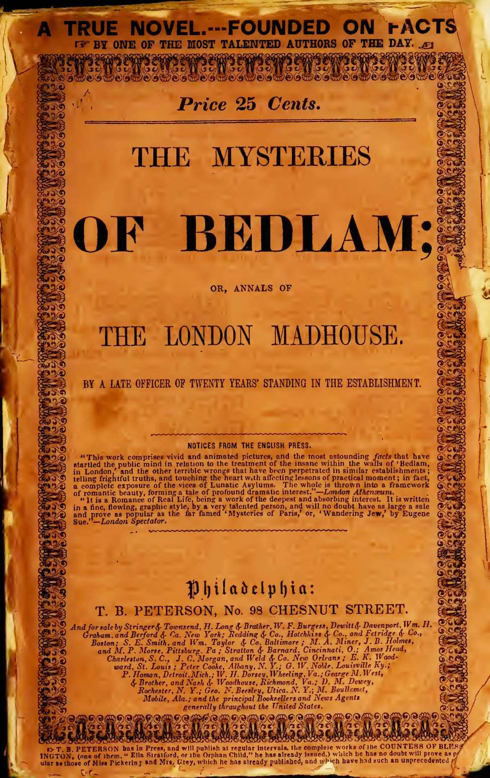 Comic Book Cover For The Mysteries of Bedlam