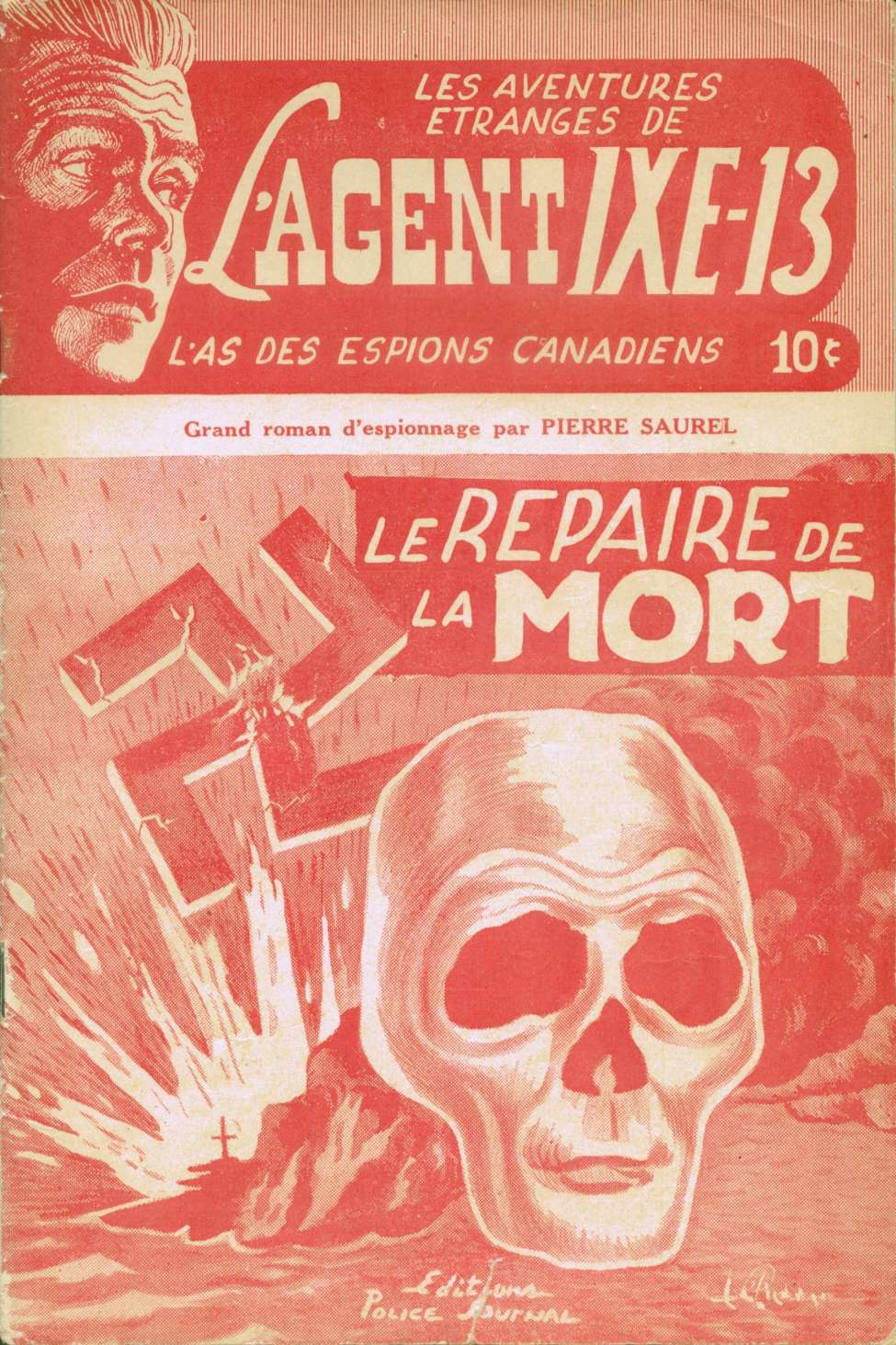 Comic Book Cover For L'Agent IXE-13 v1 001 - Le repaire de la mort