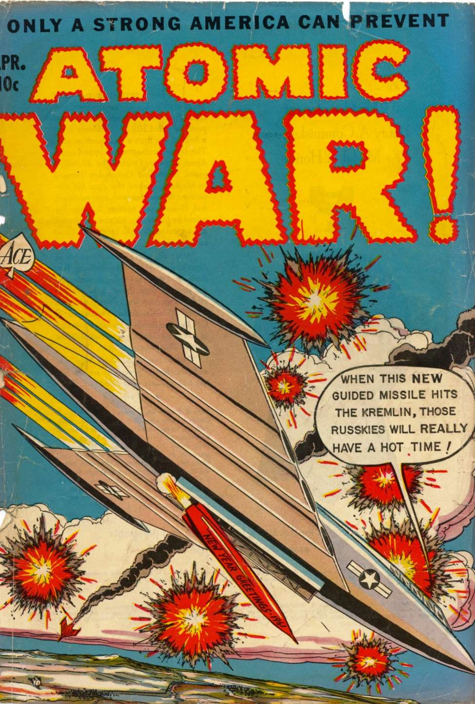 Comic Book Cover For Atomic War! #4