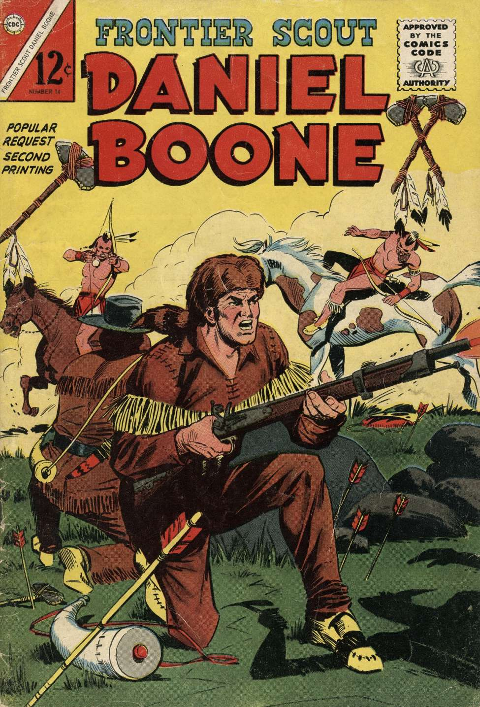 Comic Book Cover For Frontier Scout, Dan'l Boone 14