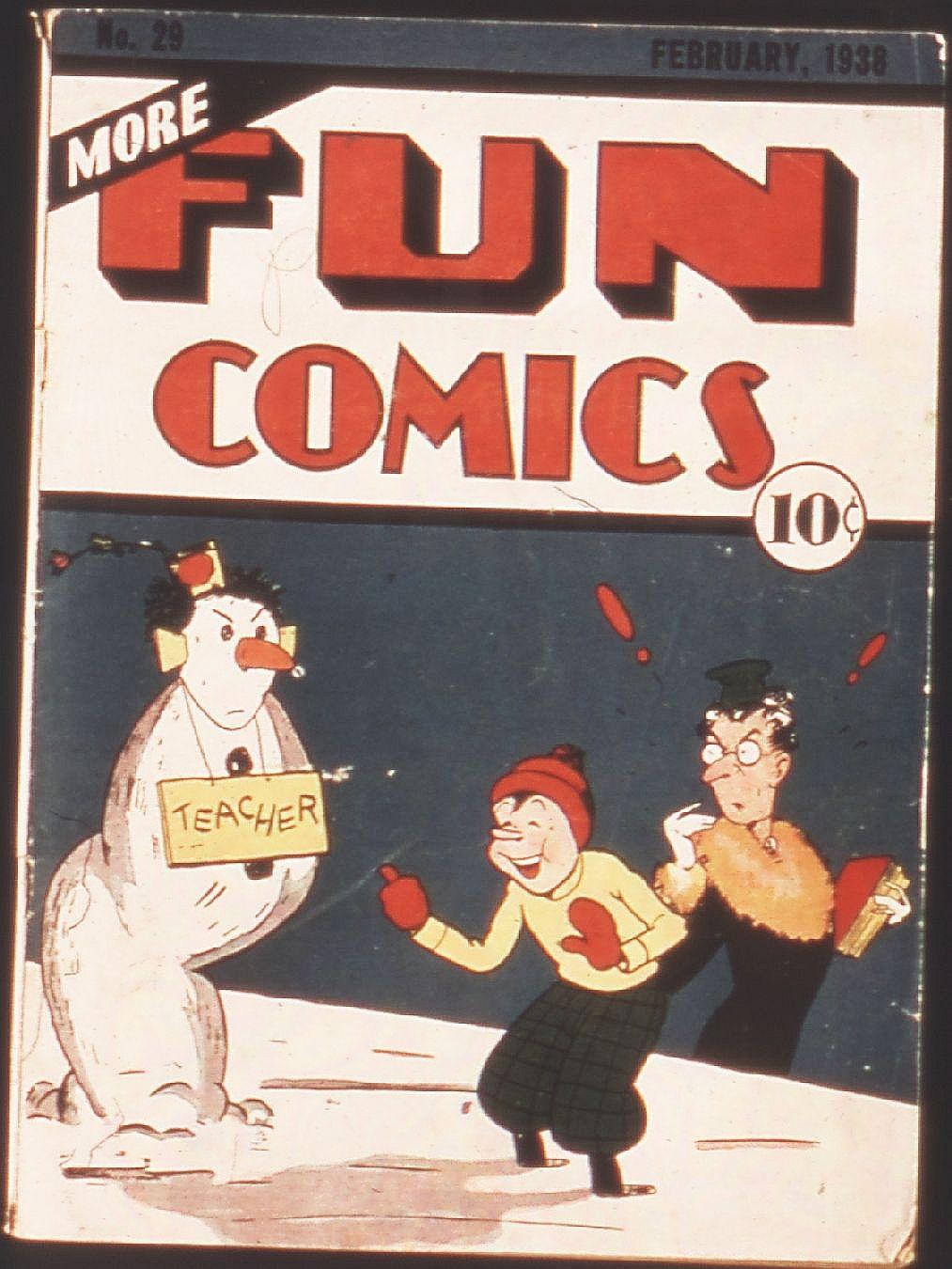 Comic Book Cover For More Fun Comics #29