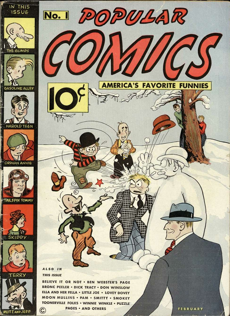 Comic Book Cover For Popular Comics #1