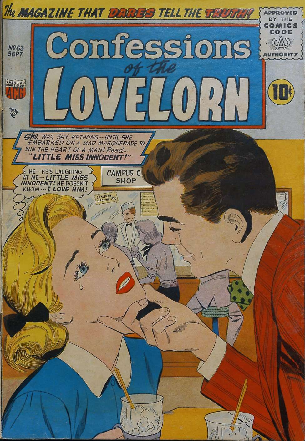 Comic Book Cover For Lovelorn #63