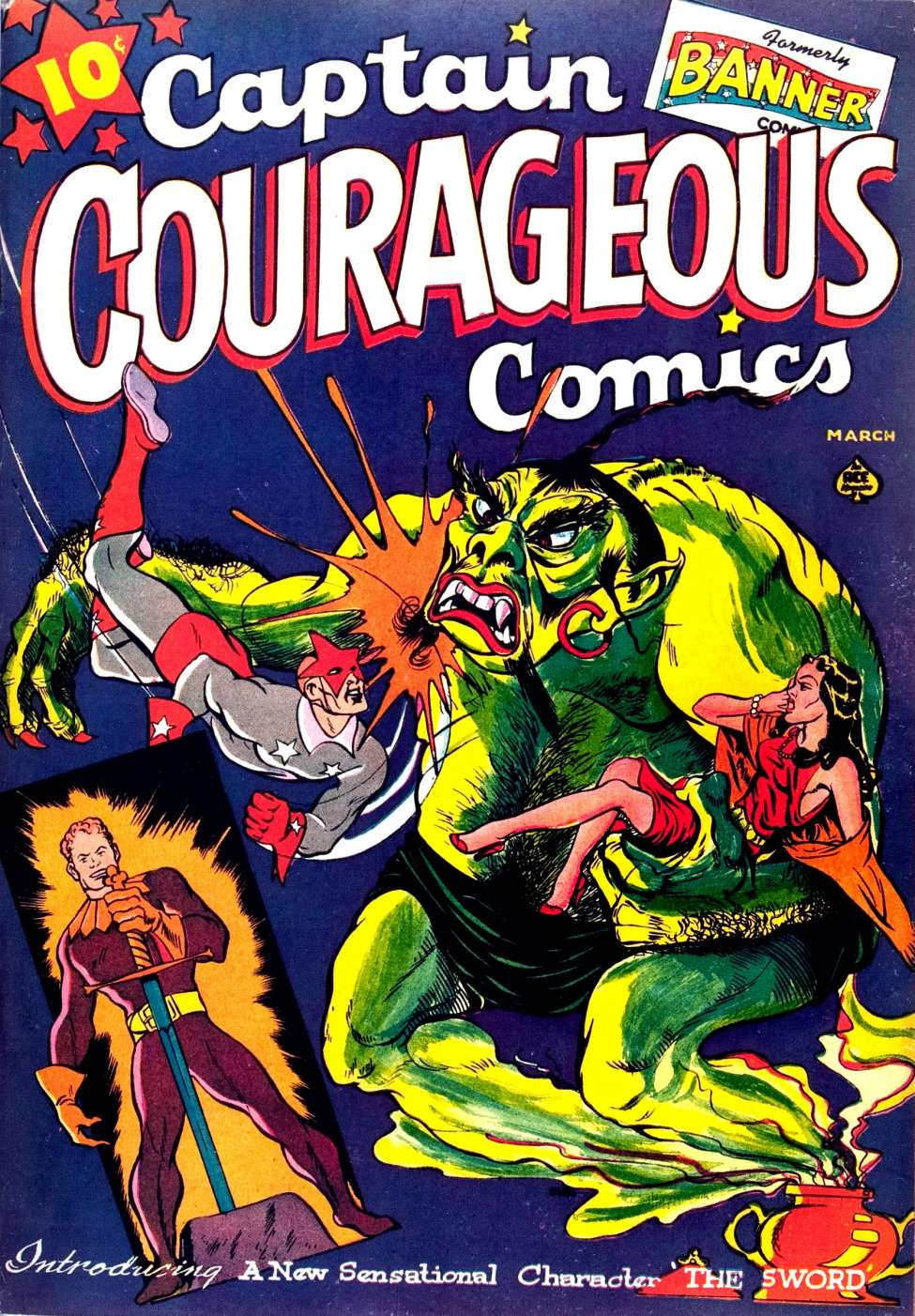 Comic Book Cover For Captain Courageous Comics #6