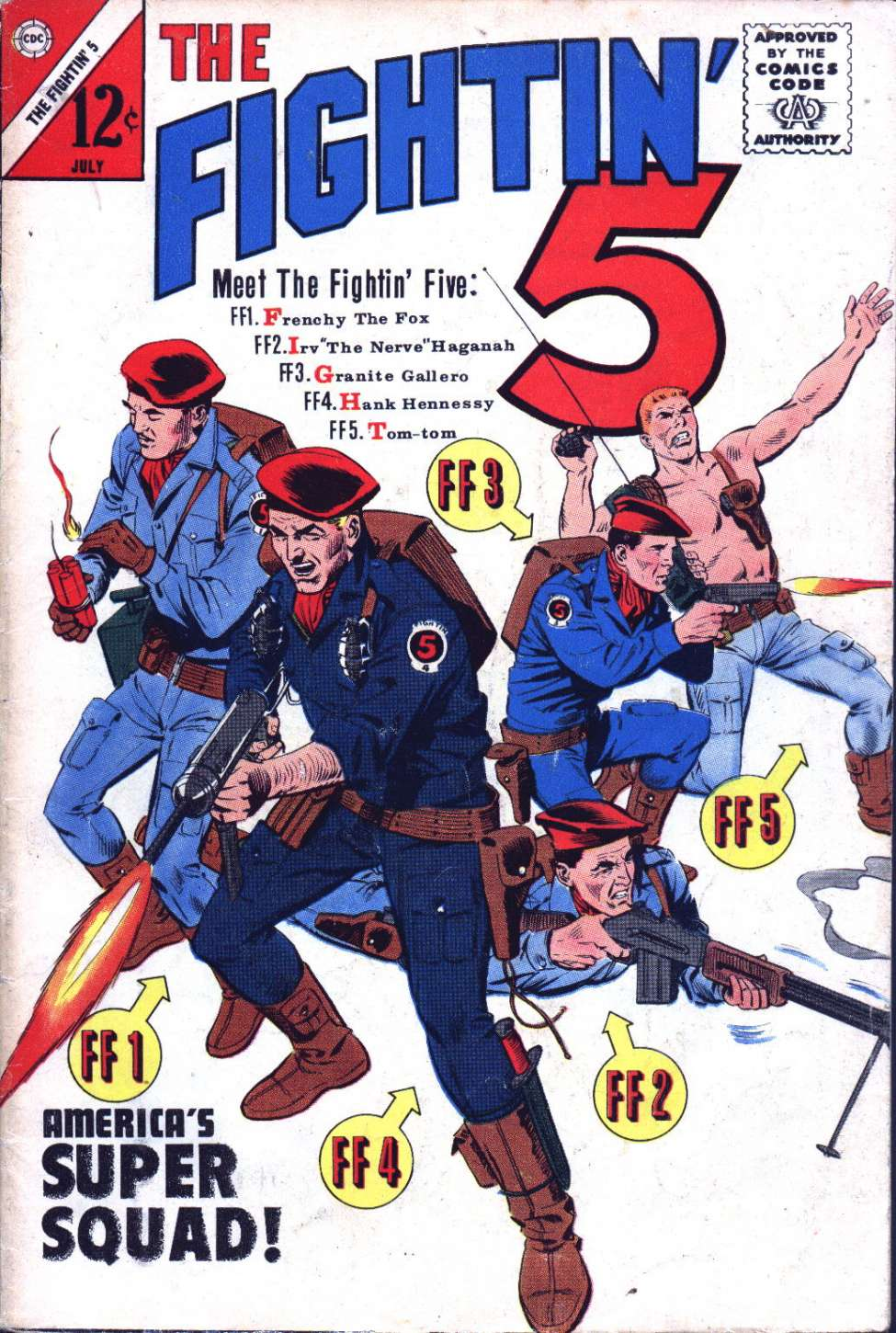 Comic Book Cover For Fightin' Five #28