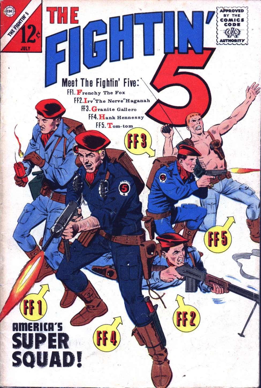Comic Book Cover For Fightin' Five #28
