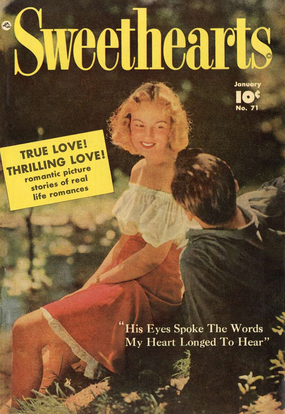 Comic Book Cover For Sweethearts #71