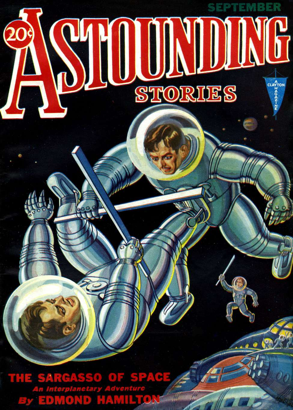 Comic Book Cover For Astounding v07 03 - The Sargasso of Space - Edmond Hamilton