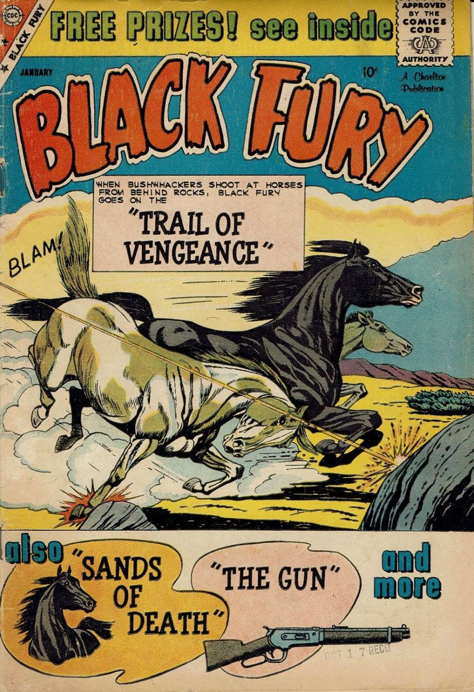 Comic Book Cover For Black Fury #22