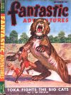 Cover For Fantastic Adventures v9 8 Toka Fights the Big Cats J. W. Pelkie