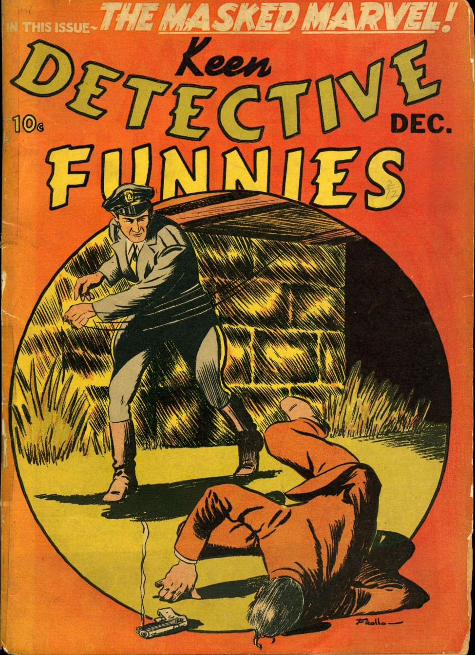 Comic Book Cover For Keen Detective Funnies v2 #12