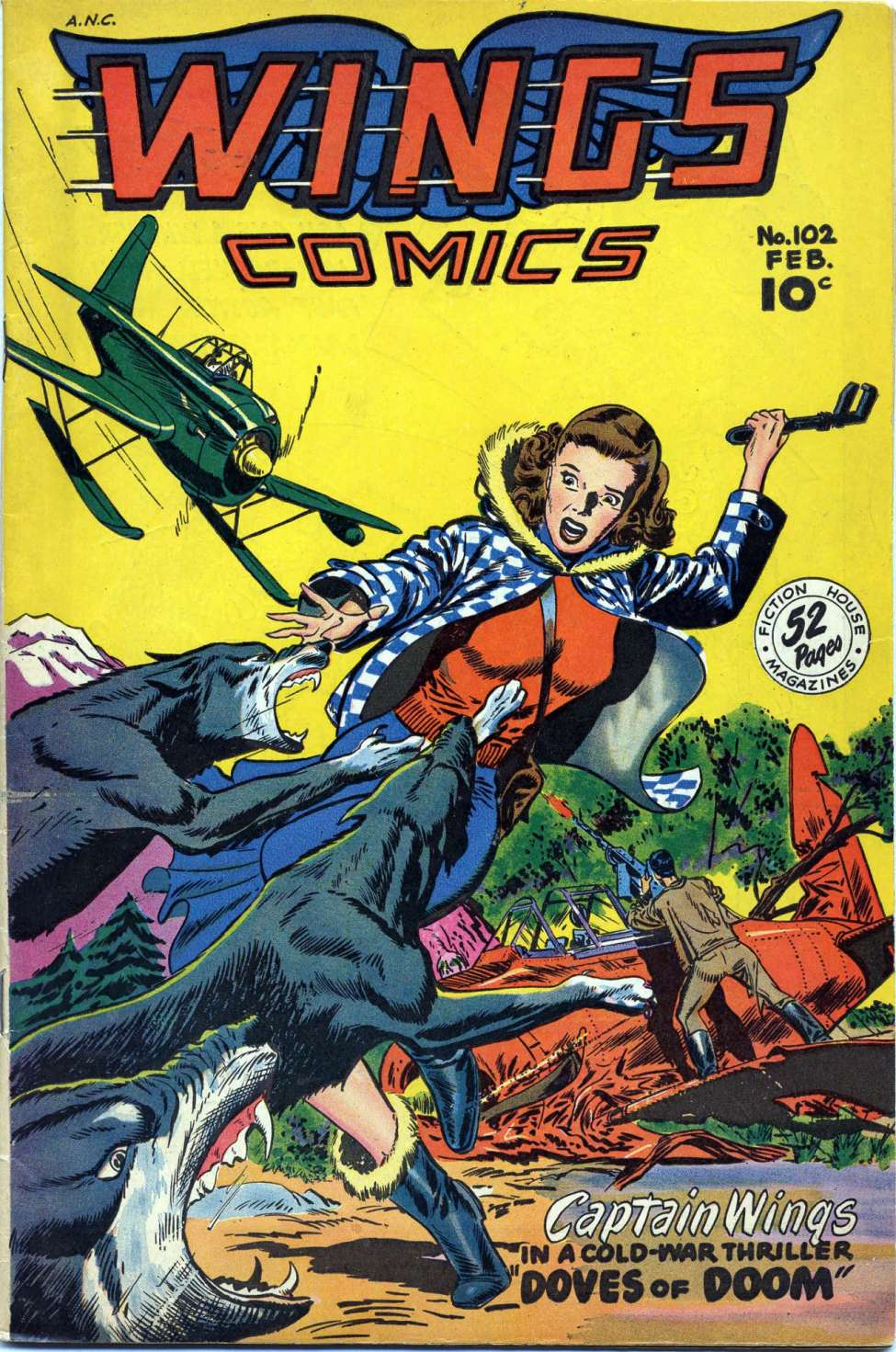 Comic Book Cover For Wings Comics #102