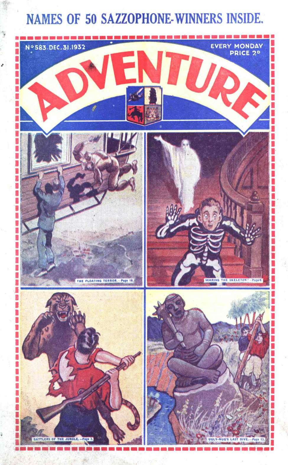 Comic Book Cover For Adventure #583