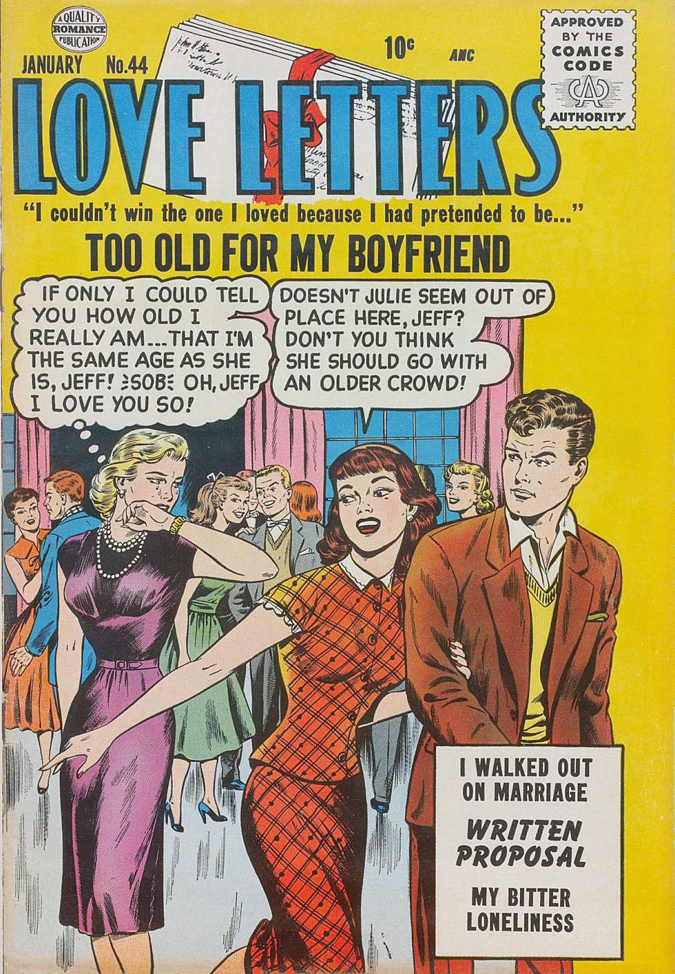 Comic Book Cover For Love Letters #44