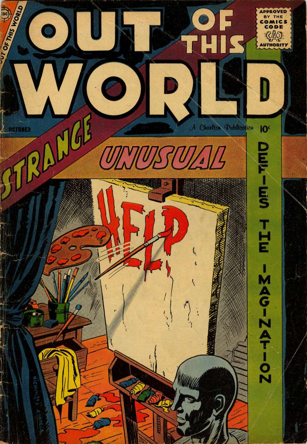 Comic Book Cover For Out of This World #10